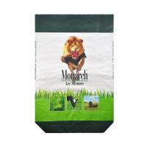 China Biodegrable PP Woven Sugar Bag , Square Bottom Woven Polypropylene Sand Bags on sale