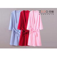 China Durable Womens Terry Cloth Robe , Hotel Cotton Waffle Bathrobe DT0033 wholesale