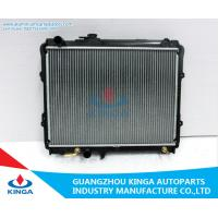 China AluminumCore Toyota Automotive Radiator For HILUX 2.4 PA26 / AT Silver on sale