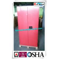 China 45 Gallon Red Flammable Goods Storage Cabinets Lockable For Paints And Inks wholesale