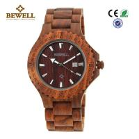China Beautiful Unique Men Wooden Watches , Natural Wood Watches Single Calendar wholesale