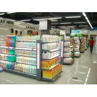 China Customizable Convenient Washing Lotion Shelf , Glass Cosmetic Display Shelves wholesale