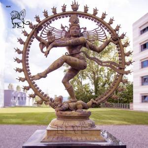 China BLVE Bronze Hindu God Idols Statue Metal Indian Religious Nataraja Sculpture Large Outdoor wholesale