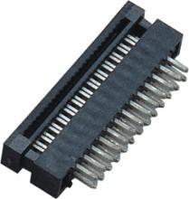 China 1.27mm  2*13P  DIP Plug Connector PBT 30%GF UL94V-0  Brass  Sel Au/Ni wholesale