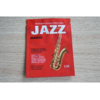 Quality 3g Red JAZZ Potpourri Herbal Incense Packaging with Zipper / Tear Notch for sale