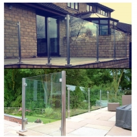 China Stainless Steel 38mm Handrail Glass Balustrade , 50mm Handrail Glass Balustrade wholesale