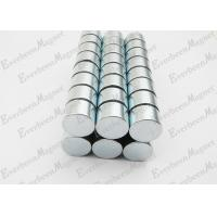 China Strong Neodymium Magnets Dia 15 mm * 10 mm Thickness Zinc Coated For Holders wholesale