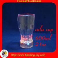 China 350ml Eco-friendly plastic cola / water / coffee LED Flashing Cup / Cups HL-D1413 wholesale