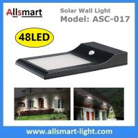China 9W 48LED 850LM Sensitive Motion PIR Sensor Solar Power Corner Lamp LED Light Wall Light Stairway Garden Outdoor Lighting wholesale