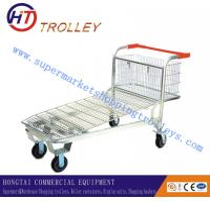 China Folded Supermarket Shopping Trolleys For Warehouse , Caster Size 4 - 5 wholesale
