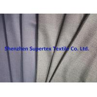 China Uniform Stretch Polyester Wool Twill Fabric in Charcoal Melange Grey Color wholesale