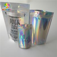 China Waterproof Holographic Stand Up Pouch Glossy Finished Surface Finish wholesale