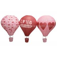 China Heart Printing Unique Shaped Paper Lantern Hot - air Balloon Customized Lovely wholesale