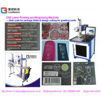 China Air Cooling CO2 Laser Engraving Machine 60W For Food Package / Plastic Paper wholesale