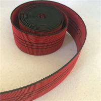 China 50mm High Tenacity Outdoor Furniture Webbing Red With 3 Black Lines wholesale