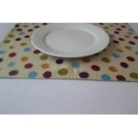 China Yellow 100% Cotton Little Dot Dining Room Placemats Kitchen Table Mats wholesale