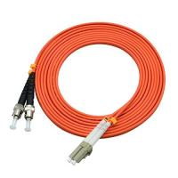 China 850 Wavelength Optical Fiber Patch Cord 3 Ft LC To ST Duplex 62.5 / 125um OM2 wholesale