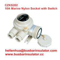 China 10A watertight plastic CZKS202 1144/R/FS marine rotary switch and socket on sale