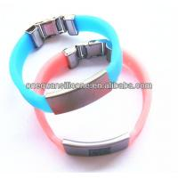 China Hot Sale fasionable Silicone Bracelet,silicone band with Metal Clip wholesale