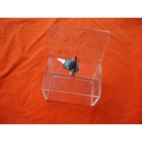 China Clear Acrylic Storage Boxes With Lock For Donation 230 * 155 * 110mm wholesale