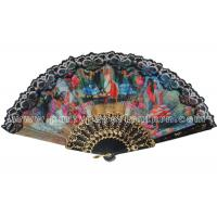 Spainish Style Design Printed Lace Hand Fans For Promotion , Gift , Souvenirs Special