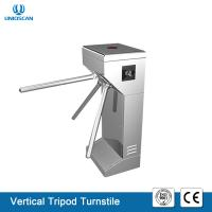 China Portable Vertical Tripod Security Gates , Pedestrian Turnstile Gate 35 Person / Min Speed wholesale