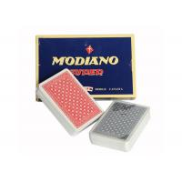 China Italian Plastic Ramino Bridge Super Flori Marked Poker Cards Red Blue Index wholesale