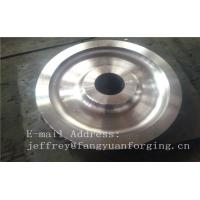 China 4140 42CrMo4 SCM440 Alloy Steel Rail Forged Wheel Blanks Quenching And Tempering Finish Machining Mine Industry wholesale