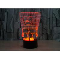 Quality Table Crystal LED Light Box / Acrylic LED Night Lights With 3D Engraving / Pattern Customized for sale