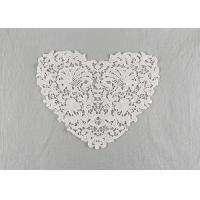 China French Guipure Venice Lace Cotton Lace Neck Applique Water Soluble For Blouses wholesale
