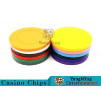 China Roulette Dedicated Solid Color Plastic Poker Chips With Customized Print Logo for sale