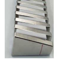 China Trapezoid Shaped N52 Industrial Neodymium Magnets Strong High Working Temperature wholesale