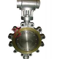 China Hard Seal Metal Seated Butterfly Valve Gear Type For Metallurgy / Light Industry on sale