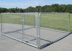 China Boxed 10x10x6ft Chain Link Dog Cage Kennel With Door wholesale