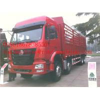 Buy cheap SINOTRUK HOWO 8x4 Heavy Cargo Trucks / Diesel Box Stake Truck , STRONGEST TRACTOR from wholesalers