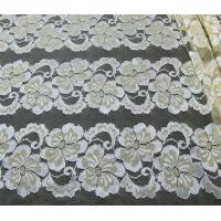 Quality Wavy Floral Elastic Lace Fabric Eco-friendly Dyeing For Evening Dress CY-DK0037 for sale