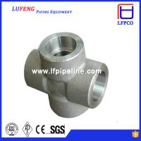 China 3000 LBS Carbon Steel Forged Pipe Fitting Socket Weld Cross wholesale