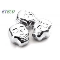 China Halloween Party Stainless Steel Ice Cubes Fast Frozen Skull Head Design wholesale