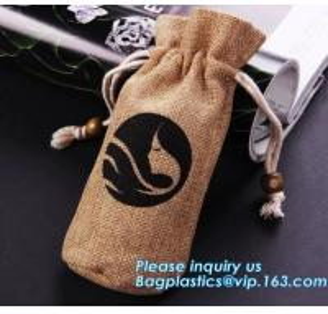 China Custom cheap wedding favor gift packaging drawstring burlap jute pouch bag,drawstring jute bag burlap shopping bag new s on sale