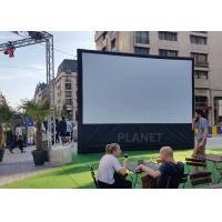China Advertising Blow Up Projector Screen PLAD-158 CE / UL Certificate Blower wholesale