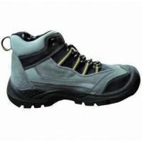 China CE Certificated Black Leather Safety Boots wholesale