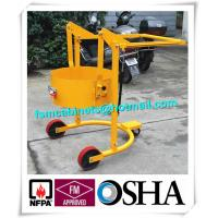 China Four Wheels Hand Trolley For Steel Drums Storage Cabinets , Portable Drum Lift Trolley wholesale