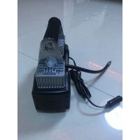 Quality Two Cylinder Strong Inflator Car Air Pump Steel Material , Clip Or Cigarette for sale