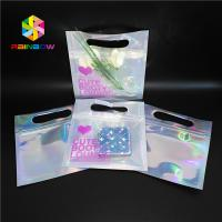 China Bikini Garments Plastic Pouch Packaging Hologram 3d Material Stand Up Bag With Zipper wholesale
