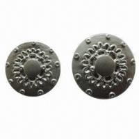 China Fashionable ABS button with shank, available in various colors and sizes wholesale