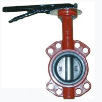 China Cast Iron Center Line Wafer Type Butterfly Valve Low Pressure Manual Power on sale