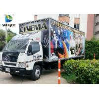 China Movable Truck Mobile Cinema 7D Movie Theater Trailer Theater Simulator Arcade Games Cinema Machine wholesale