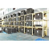 China Folding Stackable Steel Wire Mesh Pallet Cage With Galvanized Surface Treatment wholesale