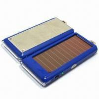 China Portable solar charger for mobile phone, MP3/MP4 players and digital camera, CE/FCC certified wholesale