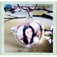 China Apple Shaped Photo Engraved Key Chain Acrylic For DIY Souvenir wholesale